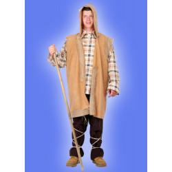 Karnevalový kostým PASTEVEC - košile, vesta s kapucí, kalhoty