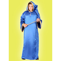 Karnevalový kostým KOUZELNÍK - plášť s kapucí