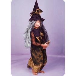 Karnevalový kostým ČARODĚJNICE I - šaty, klobouk