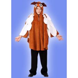 Karnevalový kostým SOVA - pelerína s kapucí