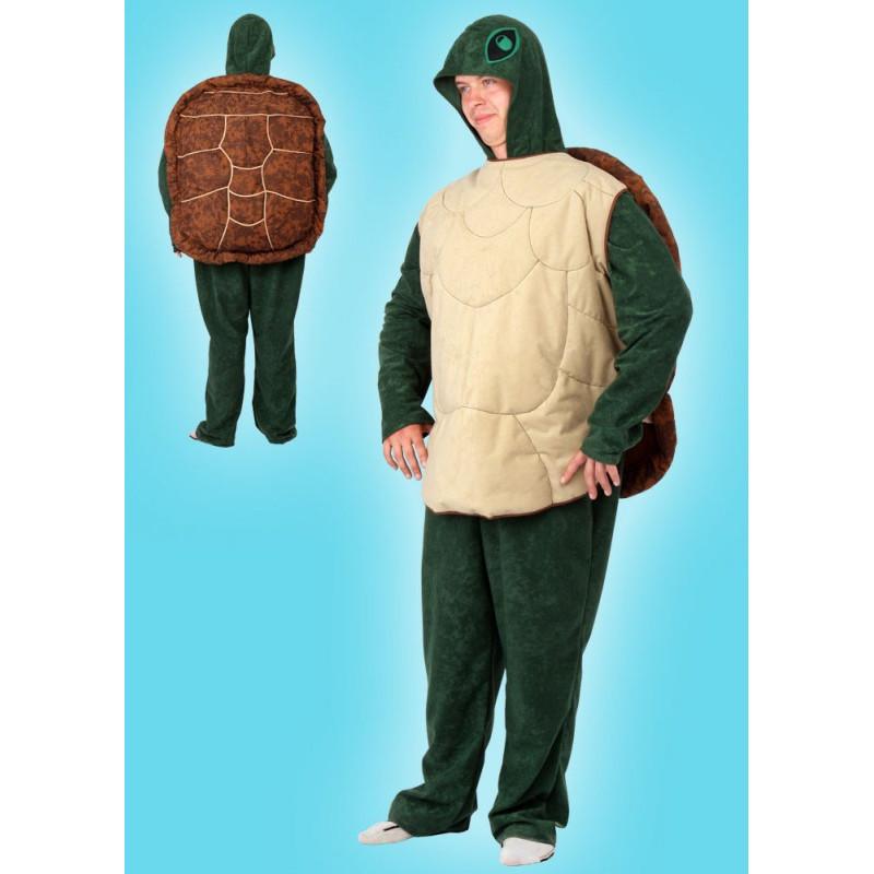 Karnevalový kostým ŽELVA - overal s kapucí, vesta s krunýřem