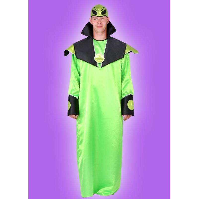 Karnevalový kostým MIMOZEMŠŤAN - plášť, čepice