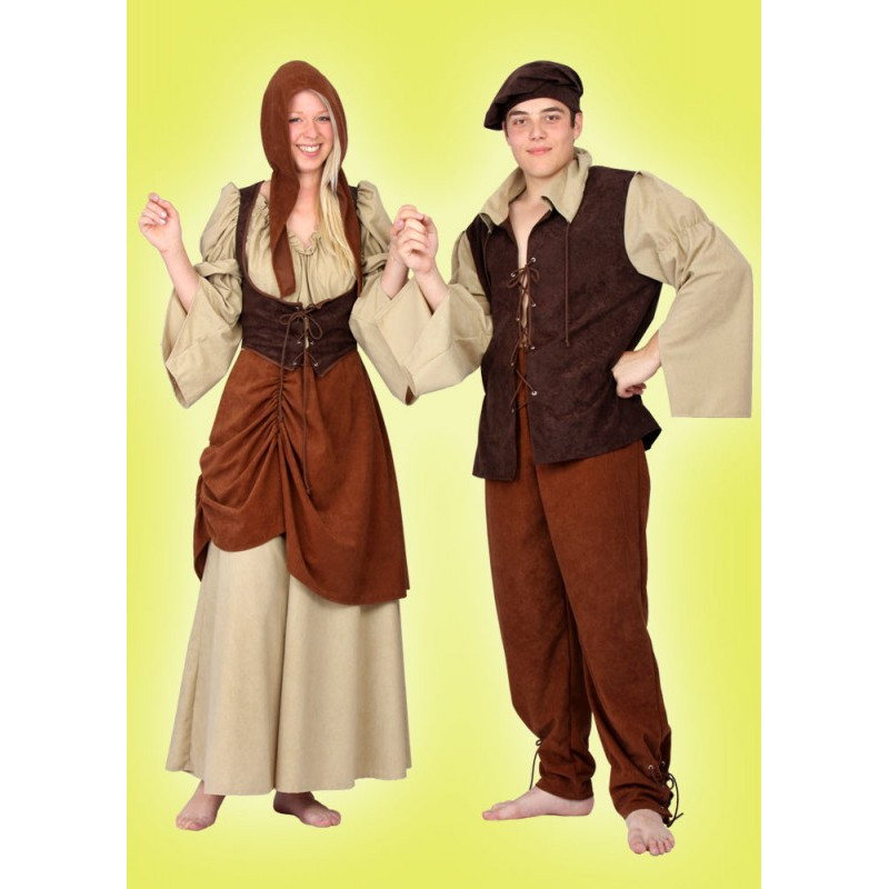 Karnevalový kostým TRHOVKYNĚ - šaty, čepice