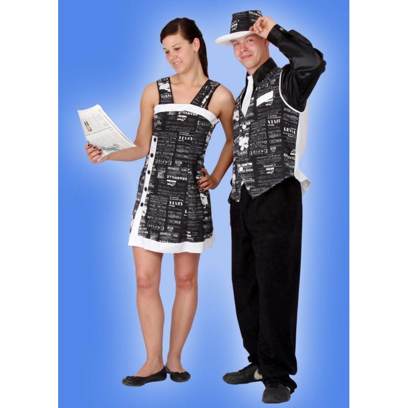 Karnevalový kostým NOVINÁŘKA - šaty