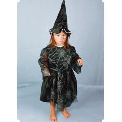 Karnevalový kostým HALLOWEEN - šaty, klobouk