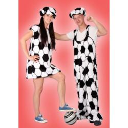 Karnevalový kostým FOTBALOVÁ FANYNKA - šaty, čepice