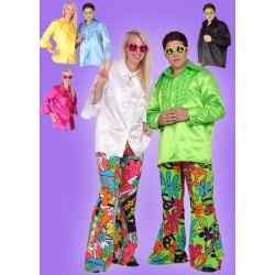 Karnevalový kostým HIPPIE DĚVČE - košile- různé barvy, kalhoty- nutno použít náhradní Hippie materiál