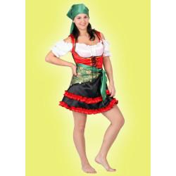 Karnevalový kostým CIKÁNKA - šaty, 2 šátky