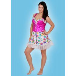 Karnevalový kostým VALENTÝNKA - šaty