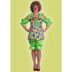 Karnevalový kostým KLAUN SEXY - šaty, kalhoty    velká sleva!!!!!