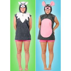 Karnevalový kostým KOČKA - horní díl s kapucí