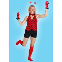 Karnevalový kostým BERUŠKA - horní díl, kalhoty, motýlek