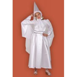 Karnevalový kostým BÍLÁ PANÍ - šaty, klobouk, pásek