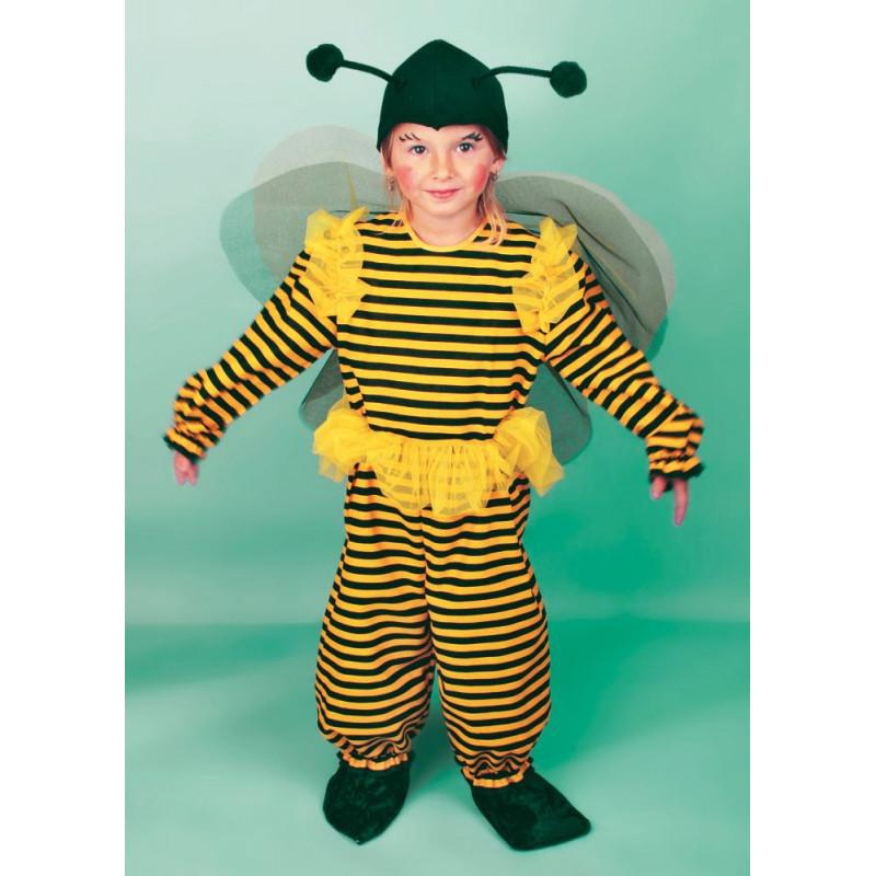Karnevalový kostým VČELKA - kombinéza s čepicí