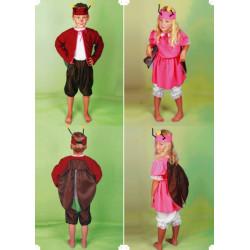 Karnevalový kostým BROUČEK - kalhoty, horní díl, čelenka
