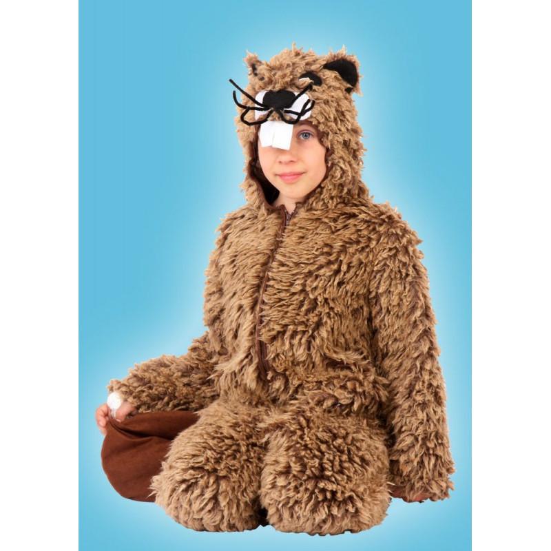 Karnevalový kostým BOBR - kombinéza s kapucí