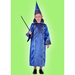 Karnevalový kostým KOUZELNÍK 1 - plášť, čepice