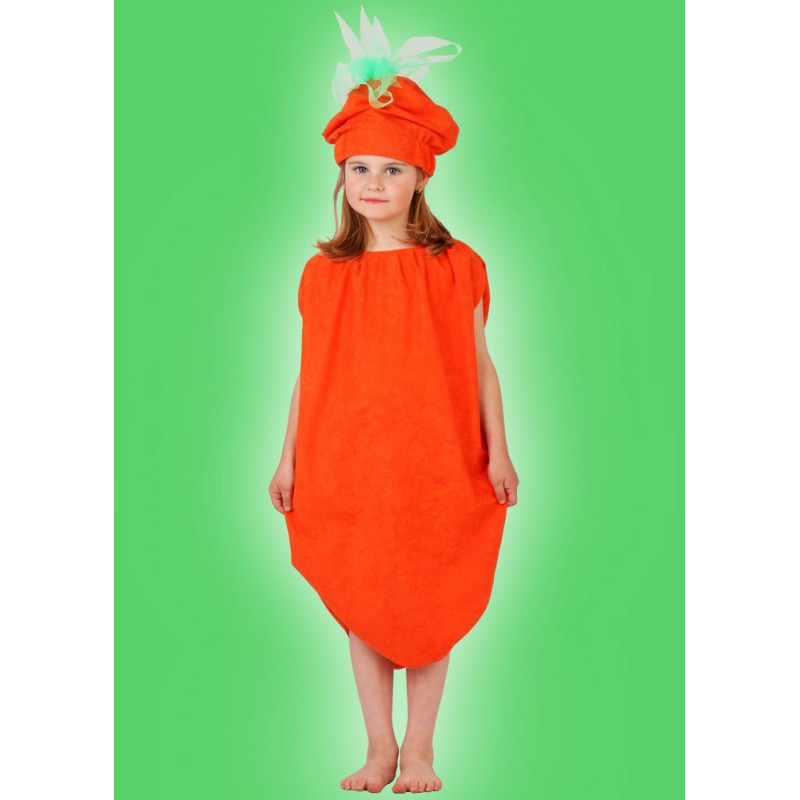 Karnevalový kostým MRKEV - šaty, čepice