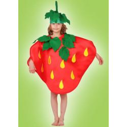Karnevalový kostým JAHODA - šaty, čepice