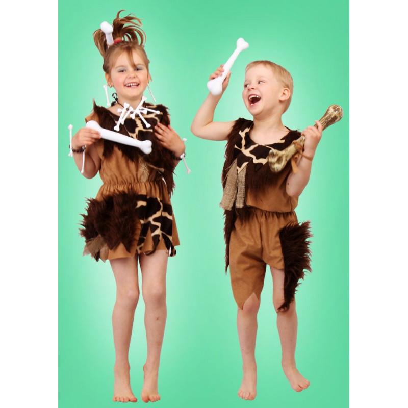 Karnevalový kostým DOBA KAMENNÁ-DĚVČE - šaty
