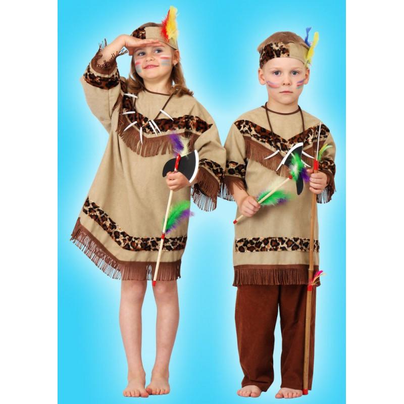 Karnevalový kostým INDIÁNKA - šaty, čelenka