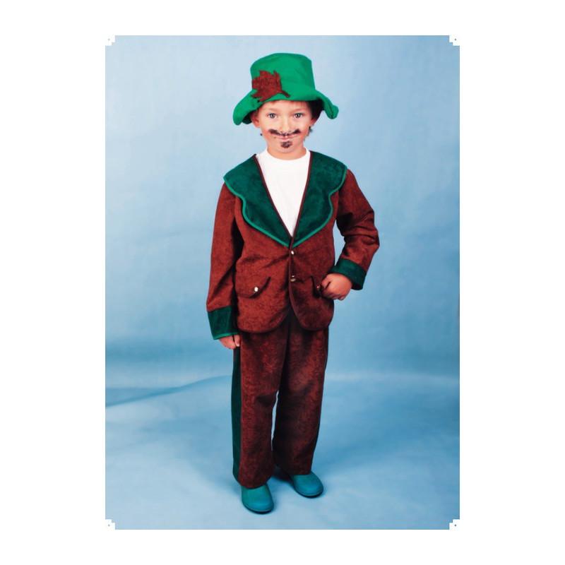 Karnevalový kostým MYSLIVEC - kalhoty, horní díl, klobouk