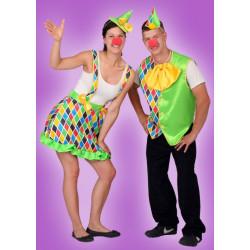Karnevalový kostým KLAUN DĚVČE - sukně, klobouk