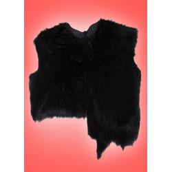 Kostým Vesta - černá chlupatá
