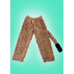 Kostým Kalhoty - hnědé plyš