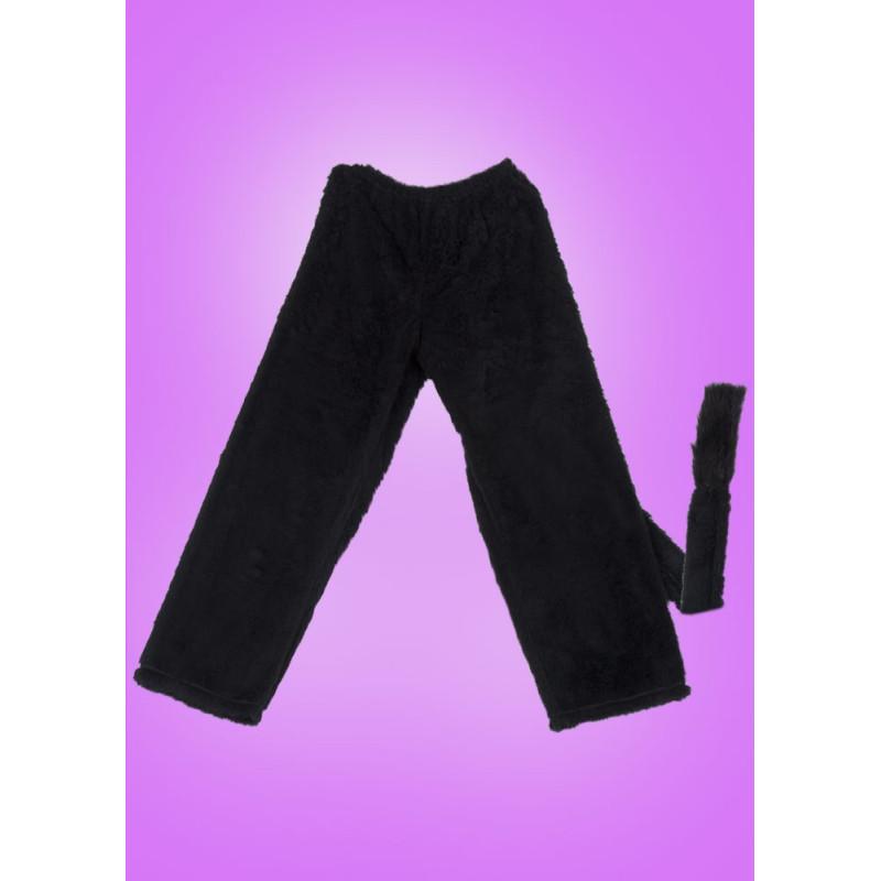Kalhoty černé plyš
