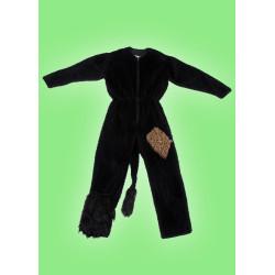 Kostým Overal - černý plyš
