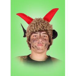 Kostým Čepice - hnědá plyš