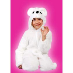 Karnevalový kostým LEDNÍ MEDVĚD - kombinéza s kapucí