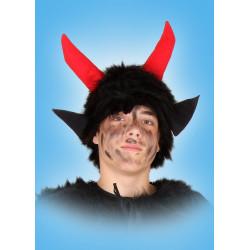 Kostým Čepice - černá plyš