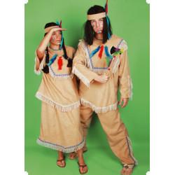 Karnevalový kostým INDIÁNKA - sukně, horní díl, čelenka