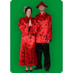 Karnevalový kostým Číňanka - Šaty,pásek