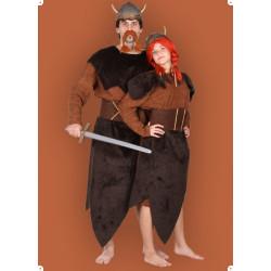 Karnevalový kostým Vikingová - šaty, vesta, šátek