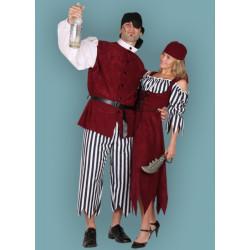 Karnevalový kostým Pirátka III - Šaty,šátek