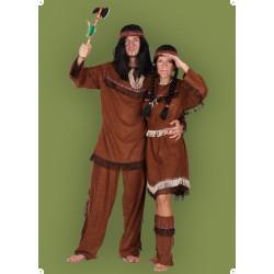 Karnevalový kostým Apačka - šaty,pásek,čelenka,návleky