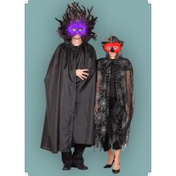 Karnevalový kostým Plášť pavoučí - plášť s kapucí