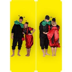 Karnevalový kostým Beruška - kalhoty, vrchní díl, čepice, taška