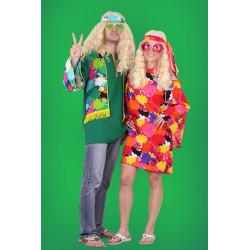 Karnevalový kostým Hippie šaty I - šaty čelenka