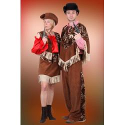 Karnevalový kostým Kovbojka - sukně, vesta, halena