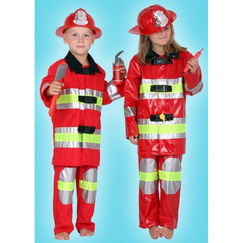 Karnevalový kostým HASIČ-MATNÝ MATERIÁL - horní díl, kalhoty