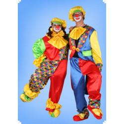 Karnevalový kostým Šašek - horní díl, kalhoty, motýl, čepice