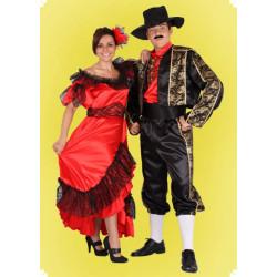 Karnevalový kostým Toreádor - košile, kalhoty, krátké sako, pásek