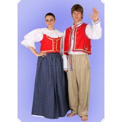 Karnevalový kostým Lidový kroj muž - kalhoty, košile, vesta