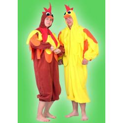 Karnevalový kostým KUŘE - overal s kapucí