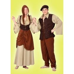 Karnevalový kostým TRHOVEC - horní díl, kalhoty, čepice
