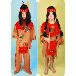 Karnevalový kostým APAČKA - šaty, čelenka